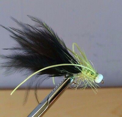 Black Damsel Trout Lures Trout Buzzers Dry Fly Fishing Trout Flies