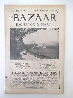 """1930 Vintage """"The Bazaar ~ Collectors and Connoisseurs Magazine -Aug 5th"""