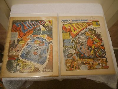 2000 Ad - X 2 Very Rare Orig Uk Cult Comics - Progs 48 + 54 Judge Dredd