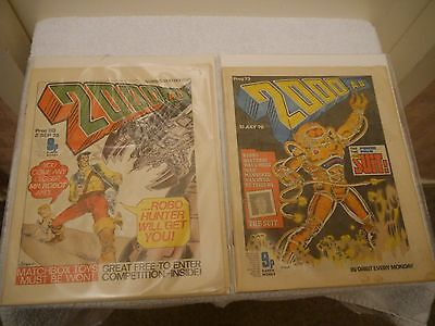 2000 Ad - X 2 Very Rare Orig Uk Cult Comics - Progs 73 + 80 Judge Dredd