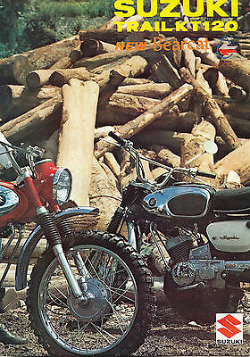 Suzuki Motorcycle Trail Kt120 New Bearcat, Brochure.