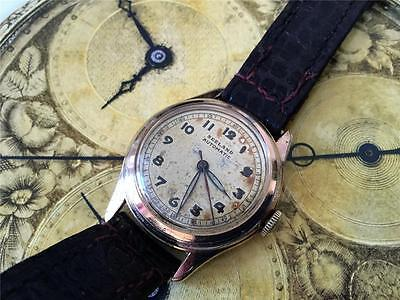 Vintage bumper automatic watch SEELAND 17 Jewels patina dial serviced as 1250