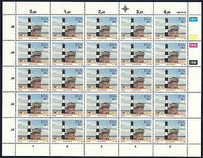 """South Africa 1988 """"Lighthouses"""" Set of (4) x Sheets of stamps (SG 649 - 652)"""