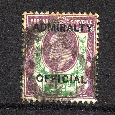 GREAT BRITAIN , OFFICIALS , ADMIRALTY  OFFICIAL , 1 1/2d stamp fine used