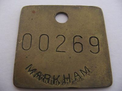Markham Colliery 00269 Doncaster Yorkshire Miners Mining  Pit Check Token