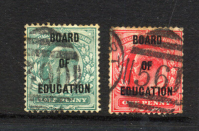 GREAT BRITAIN , OFFICIALS , BOARD of EDUCATION , 2 x stamps fine used.