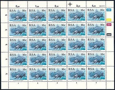 """South Africa 1989 """"Coelacanth"""" Set of (4) x Sheets of stamps (SG 677 - 680)"""
