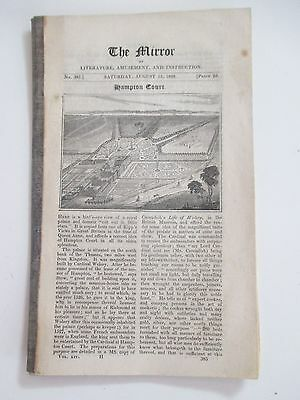 "1827 The Mirror Vintage Original ""hampton Court"" Article Plus Many Others"