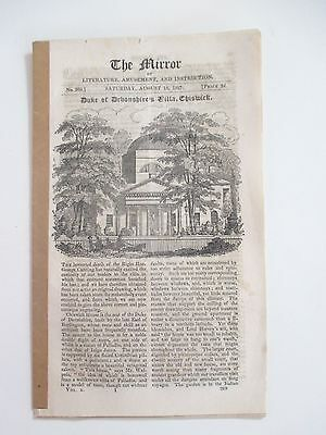 "1827 The Mirror Vintage Original ""chiswick House"" Article Plus Many Others"
