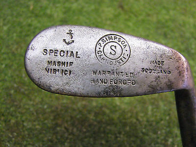 Vintage Hickory Playable Mash Niblick by R Simpson of Carnoustie SW D1 old golf