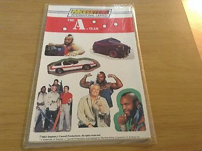 Vintage 1983 set of the A TEAM stickers
