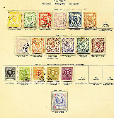 MONTENEGRO 1874/1913 Mint&Used on OLD Pages(Approx 85)E7
