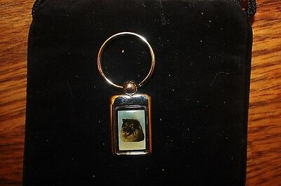 Keeshond Stainless  Steel Key Chain