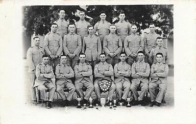 1930 Royal Artillery Soldiers Sports Team British India Used RP Postcard