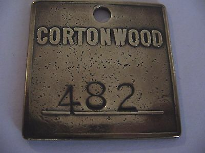 Pre1947 Cortonwood Colliery 482 Yorkshire Miners Mining Pit Check Token