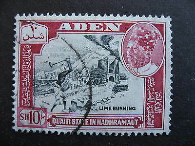 ADEN Qu'aiti State in Hadhramaut Sc 52 used nice stamp, check it out!