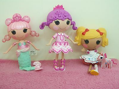 large lalaloopsy dolls bubble mermaid, playdoh doll and splatter splash & horse