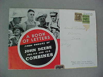 "Vintage 1941 John Deere ""book Of Letters ...."" Brochure (11-A & 12-A Combines)"
