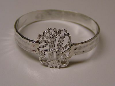 Napkin Ring with a ( Initial ( H  ) Sterling Silver