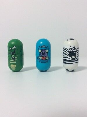 Mighty Beanz Collectible Toy by Moose - #41 Zebra, #43 Hippo, #87 Croc