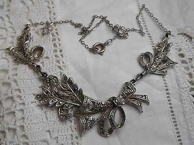 Stunning Vintage 1950s Marcasite Necklace