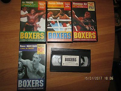 COLLECTION OF BOXERS  VHS Video Tapes- REGION 2 PAL