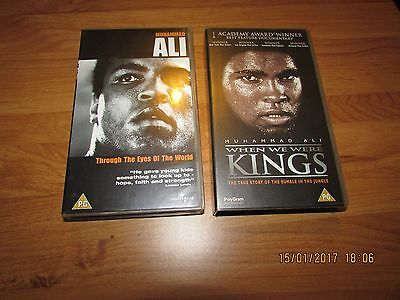 COLLECTION OF MUHAMMAD ALI  VHS Video Tapes- REGION 2 PAL