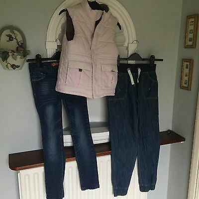Bundle Girls Jeans x 2 / Gillet age 10 years