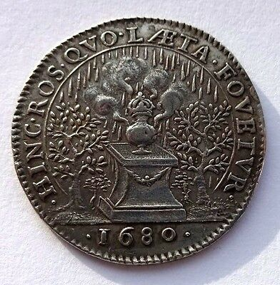 French 1680 Silver Token/Jetton VF+