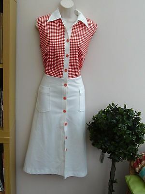 Genuine Vintage Dress 70s does 50s: size 12/14