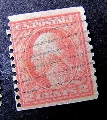 Scott #444 ? Coil Untyped Washington Franklin 2 Cent Early US Stamps 4888