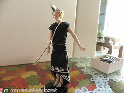 "Roaring 20's Doll Avon 8 1/2"" Porcelain Head Hands Legs."