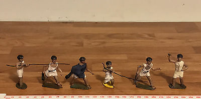 6 Vintage Charbens? Mixed Brand Painted Lead Toy Soldiers - Greek / Roman?