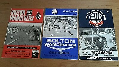 3 - Bolton Wanderers Programmes from 1970's
