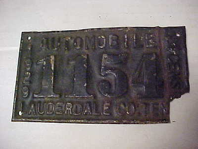 1929 Model A Ford Lauderdale County Tennessee City State License Plate 1154 TN