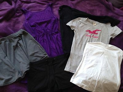 Clothes Bundle Ladies Size 8 / Small Tops   Tshirt skirt 6 items