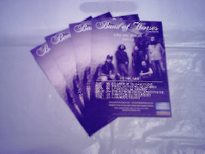 """BAND OF HORSES - """"WHY ARE YOU OK 2017 TOUR"""" (4 x PROMO CARDS)"""