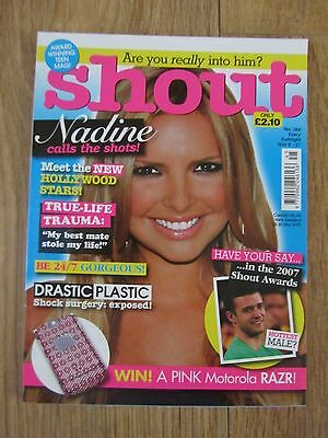 Shout Magazine - November 8 2007 - Nadine Girls Aloud - No 384