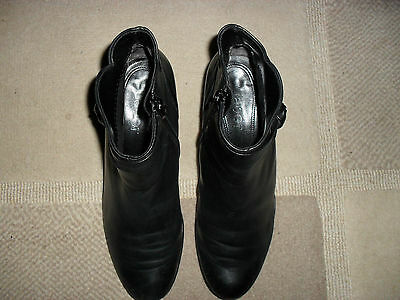 Lovely Gabor  Black Soft  Leather   Ankle Boots   Size Uk 4