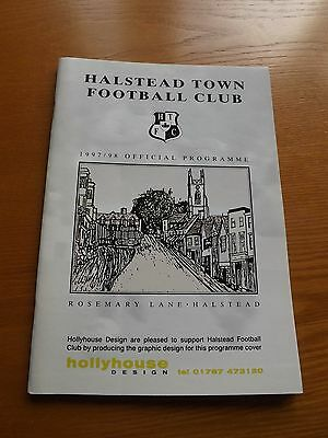 HALSTEAD TOWN v BERKHAMSTED TOWN - F A Cup 1997/98