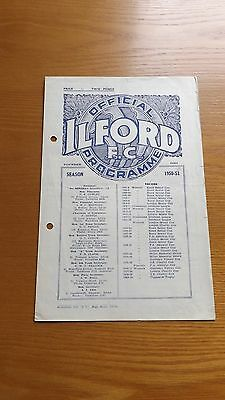 ILFORD v CORINTHIAN-CASUALS - London Charity Cup 1950/51