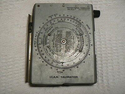 Ww2 Raf Navigational Computor 6B/180 With Original Notebook & Air Ministry Stamp