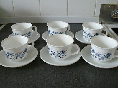 Arcopal / Six Cups And Saucers