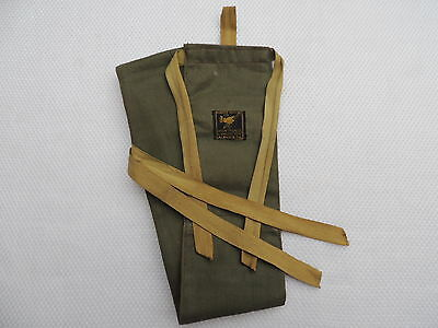 Vintage Hardy 2 Section Trout Fly Fishing Rod Bag, With Ferrule Stopper Pocket.
