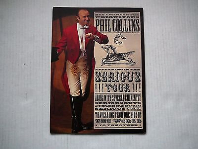 Phil Collins Seriously Tour Book
