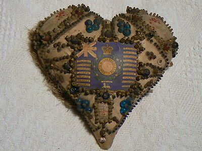 Victorian Boer War / Ww1 Swb  Sweethearts  Pin Cushion South Wales Borderers