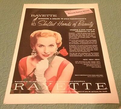 Rayette Beauty salon products 1956 Vintage Print Ad