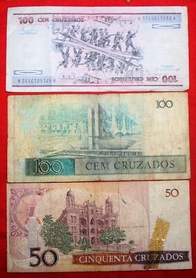 BRAZIL - Used Banknotes x 14