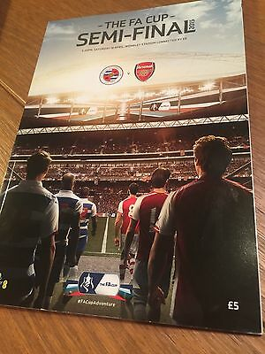 2015 Fa Cup Semi Final Arsenal V Reading Official Programme