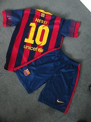Kids Barcelona football Kit Messi Number 10,   Age 12-13